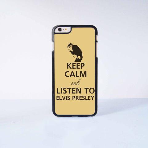 Keep calm and listen to Elvis Presley Plastic Case Cover for Apple iPhone 6 Plus 4 4s 5 5s 5c 6