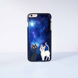 Sailor Moon Luna and Artemis Cat Plastic Case Cover for Apple iPhone 6 Plus 4 4s 5 5s 5c 6