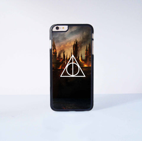Harry Potter Death Hallow Plastic Case Cover for Apple iPhone 6 Plus 4 4s 5 5s 5c 6