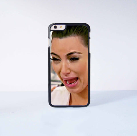 Funny Kim Kardashian Crying Plastic Case Cover for Apple iPhone 6 Plus 4 4s 5 5s 5c 6