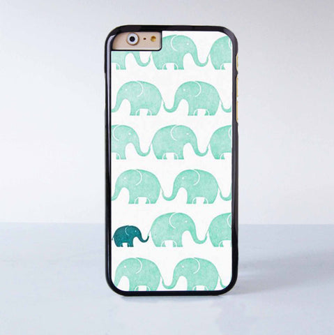 Cute Little Green Elephant  Plastic Case Cover for Apple iPhone 6 6 Plus 4 4s 5 5s 5c