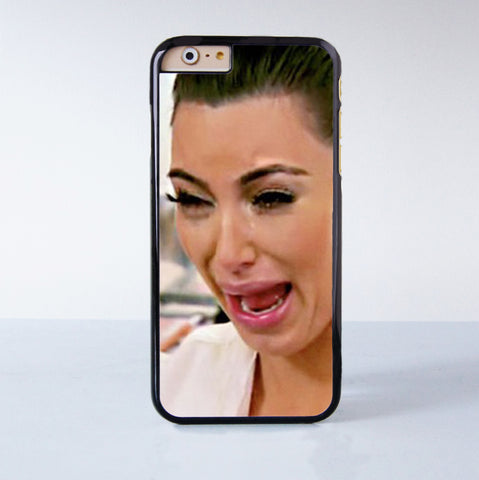 Funny Kim Kardashian Crying Plastic Case Cover for Apple iPhone 6 6 Plus 4 4s 5 5s 5c