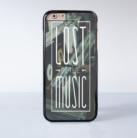 Get Lost In The Music  Plastic Case Cover for Apple iPhone 6 6 Plus 4 4s 5 5s 5c