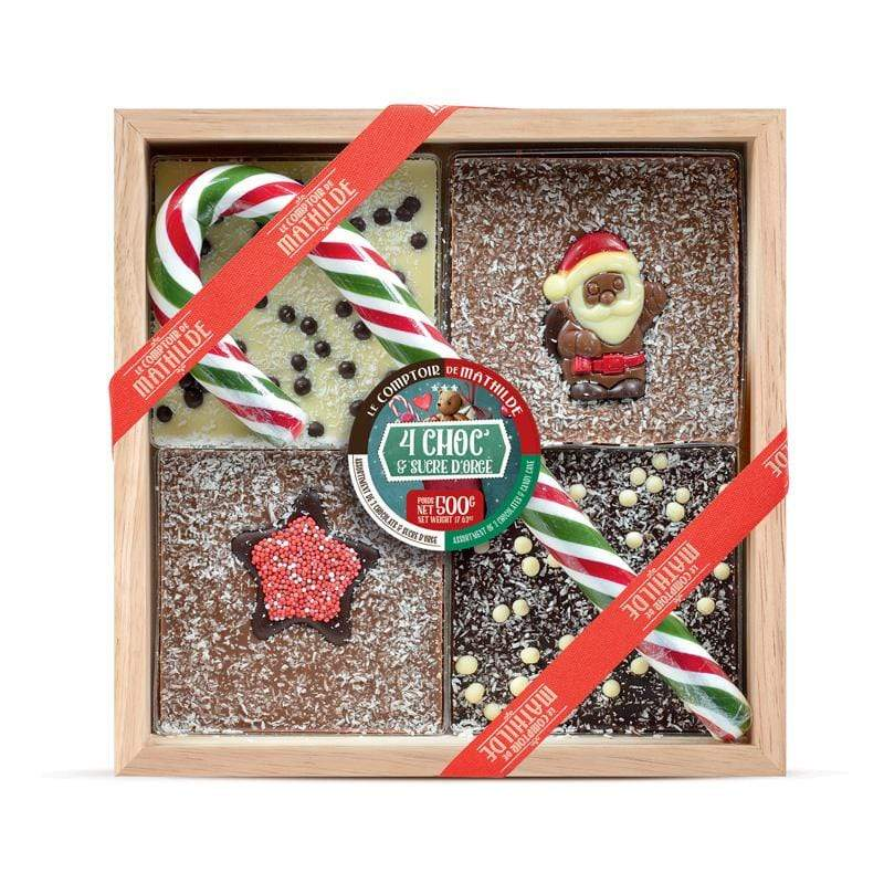 Christmas Chocolate to break with Candy Cane