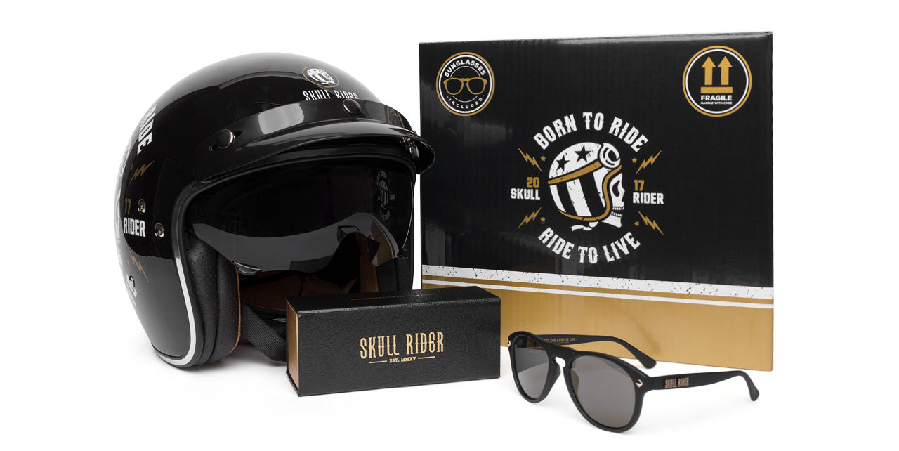 Skull Rider Bets Once More Time On The Cafe Racer Style With This Vintage Helmet
