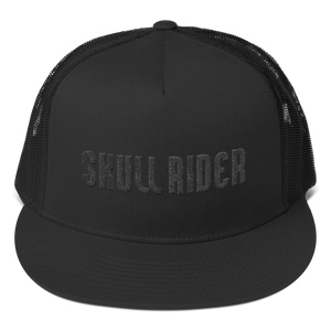 Skull Rider Urban & Rogue - Black Trucker Cap - Skull Rider
