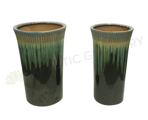 Paint Dipped Style Round - Green (Ceramic)