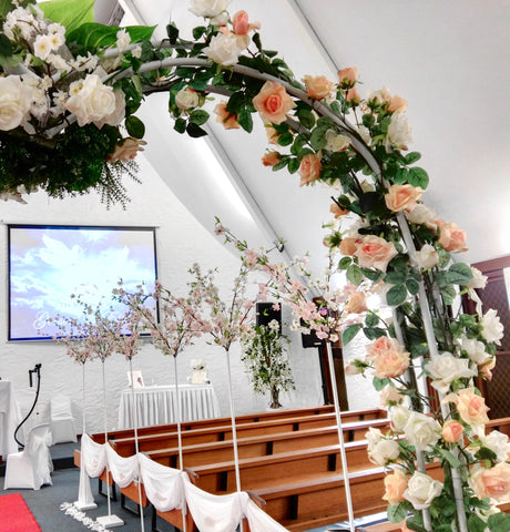 For hire wedding arch for hire perth australia decorated with silk for hire wedding arch decorated with flowers 250cm height junglespirit Images