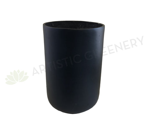 Round Fiberglass Planter  (Code: FG1654) 2 Sizes Matt Black
