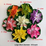 ACC0025 Floating Water Lily / Lotus Flower 3 Sizes Various Colours