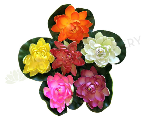 ACC0025 Floating Water Lily / Lotus Flower 3 Sizes Various Colours - 50% OFF
