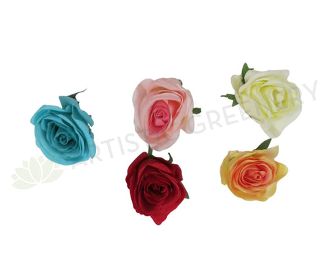 ACC0047 Single Rose Head (Availabe in 8 Colours)