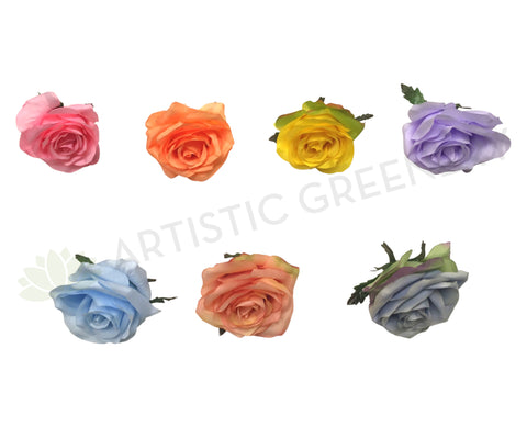 ACC0078 Premium Single Rose Head (Available in 15 Colours)