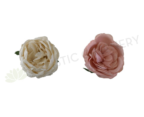 ACC0078-300 Rustic Style Peony Flower Head - Cream / Pink