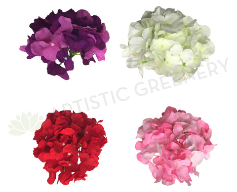 ACC0078 Premium Single Hydrangea Head 17cm (Various Colours)