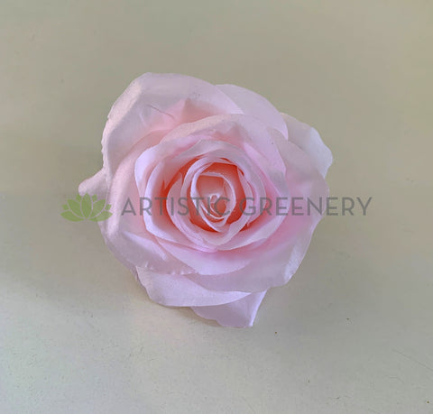 Light Pink - ACC0078(10/20) Premium Silk Single Rose Head (Various Styles) silk rose for DIY wedding and vertical garden Silk flower heads for flower wall