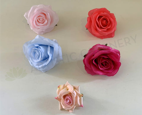 ACC0078(10/20) Premium Silk Single Rose Head (Various Styles) silk rose for DIY wedding and vertical garden Silk flower heads for flower wall