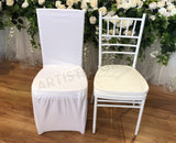 ACC0086 -  Lycra / Spandex White Chair Cover