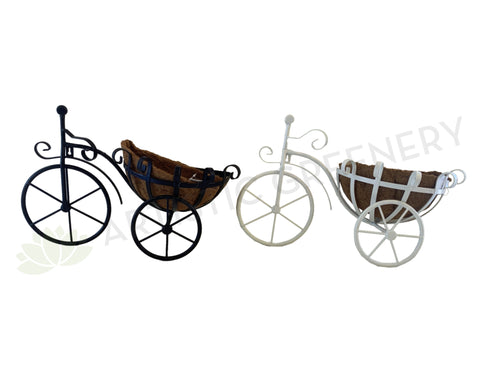 ACC0093 Wall Mounted Bicycle Planter 53cm Black / White | ARTISTIC GREENERY