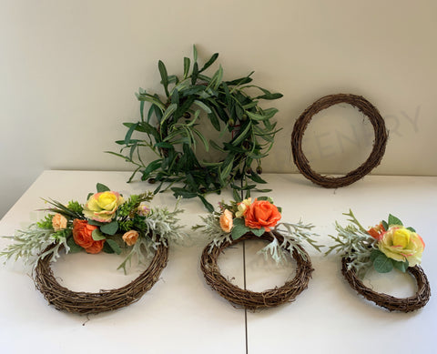 ACC0097 wicker floral wreath | ARTISTIC GREENERY