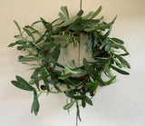 ACC0099 Olive wicker wreath 25cm diameter | ARTISTIC GREENERY