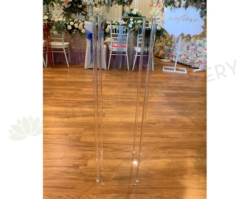 ACC0101 Clear Acrylic Stand Rectangle Wedding Plinth Wedding Clear Stand Perth 100cm x 30cm x 30cm | ARTISTIC GREENERY