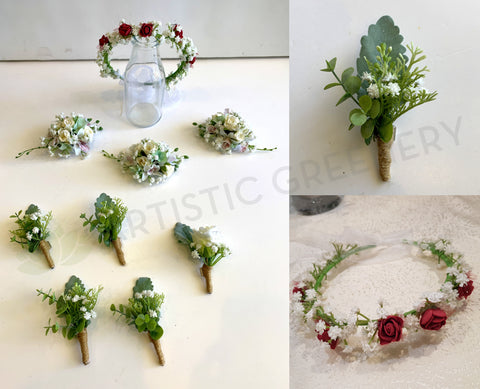 Flower Girl Crown, Boutonnieres & Corsages - Adriana J BY ARTISTIC GREENERY