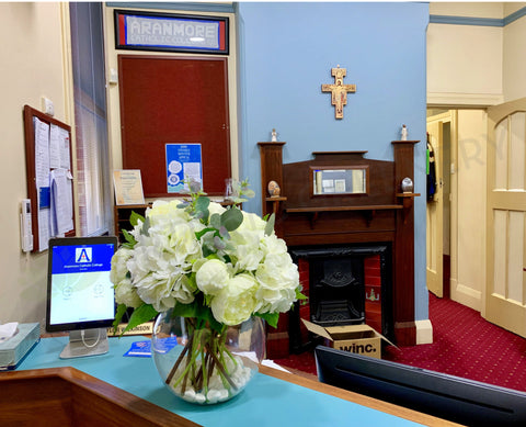 Aranmore Catholic College (Leederville WA) - Silk Floral Arrangement for Admin Office