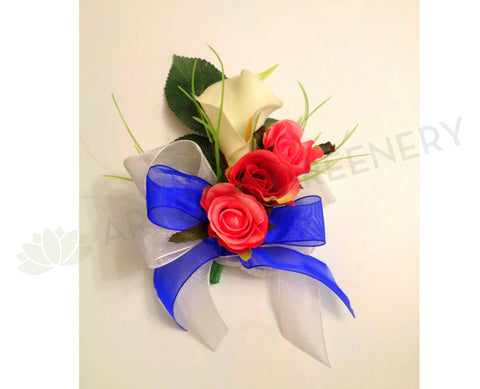 Buttonhole & Corsage - Calla Lily & Rose - Army Cadet
