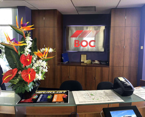 Floral arrangement for front reception