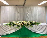 For Hire - White Backdrop & Bridal Centrepiece