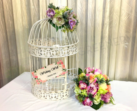 For Hire - Bird Cage Style Wishing Well