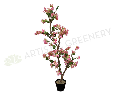 Artificial Bougainvillea Tree 130cm Pink (Bespoke Artificial Tree) | ARTISTIC GREENERY
