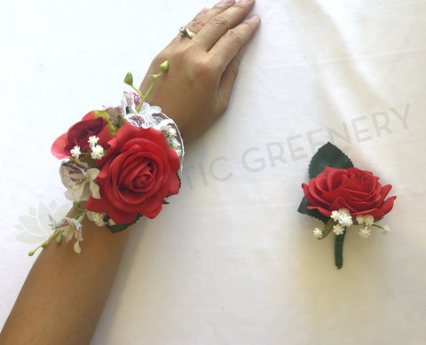 CB0009 corsage and buttonhole set