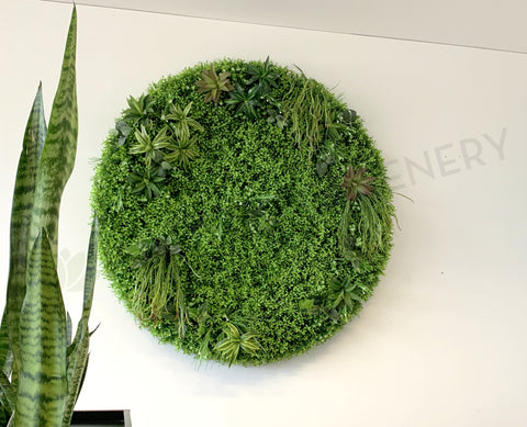 Circle Greenery Feature Wall / Vertical Garden  | ARTISTIC GREENERY
