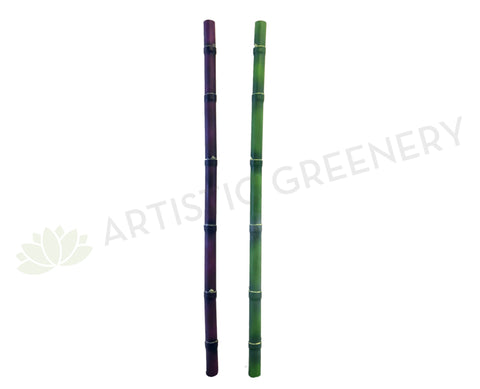 DS0024 Bamboo Stick 127cm Eggplant / Green