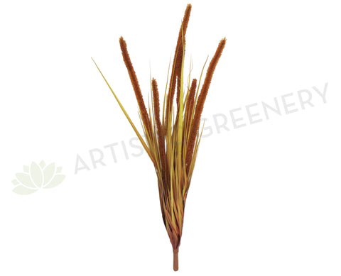 DS0026 Wild Grass Bunch 90cm 2 Styles Orange