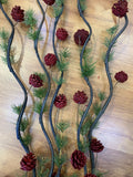 Red - DS0031 Twigs / Decorative Sticks with Pine Cones 150cm 3 Colours | ARTISTIC GREENERY