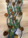 Yellow - DS0031 Twigs / Decorative Sticks with Pine Cones 150cm 3 Colours | ARTISTIC GREENERY