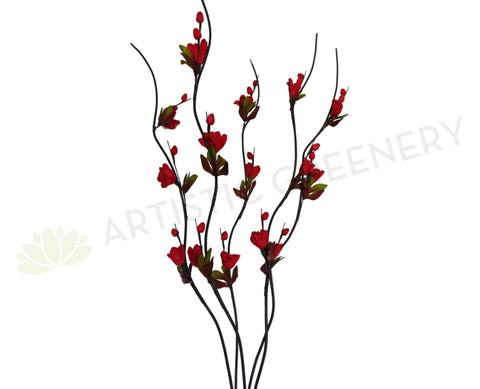 DS0039B Décor Sticks with Red Flowers 167cm
