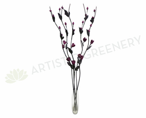 DS0039C Décor Sticks with Purple Flowers 167cm