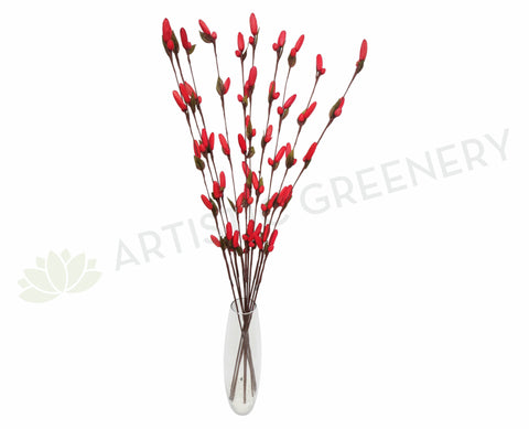 DS0041C Decorative Sticks with Hanging Flowers 103cm Red