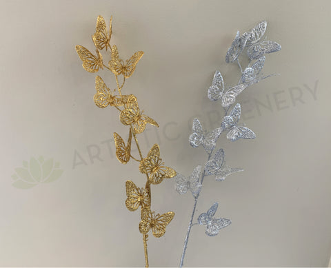 DS0046 Butterfly Glitter Stick 93cm Gold / Silver