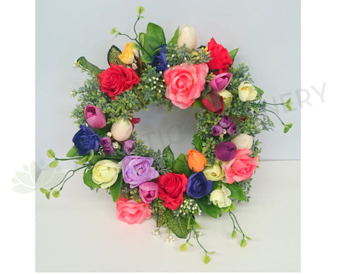 Spring Colour Floral Wreath 30cm / 40cm / 50cm