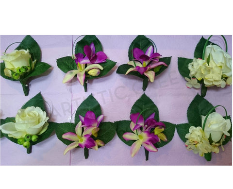 Buttonhole - Singapore Orchid and Rose