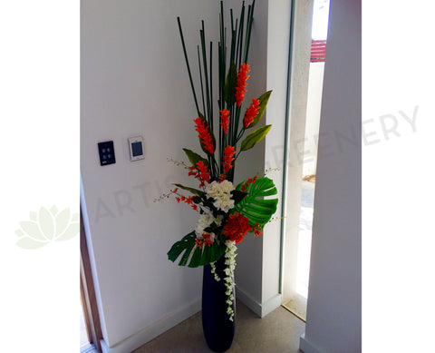 Floor Floral Arrangement - Ginger Torch / Orchid / Hydrangea