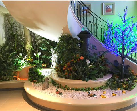 Home Interior Design and Installation - Under Staircase Artificial Plants