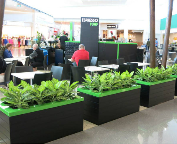 Artificial Plants For Cafe Inside Shopping Center