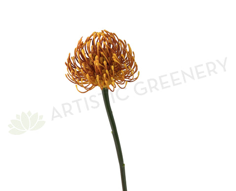F-ASB-PC-05 Artificial Protea Pincushion Stem 53cm Orange | ARTISTIC GREENERY