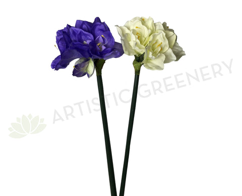 F0001SML Amaryllis Stem 90cm Purle / Red / White